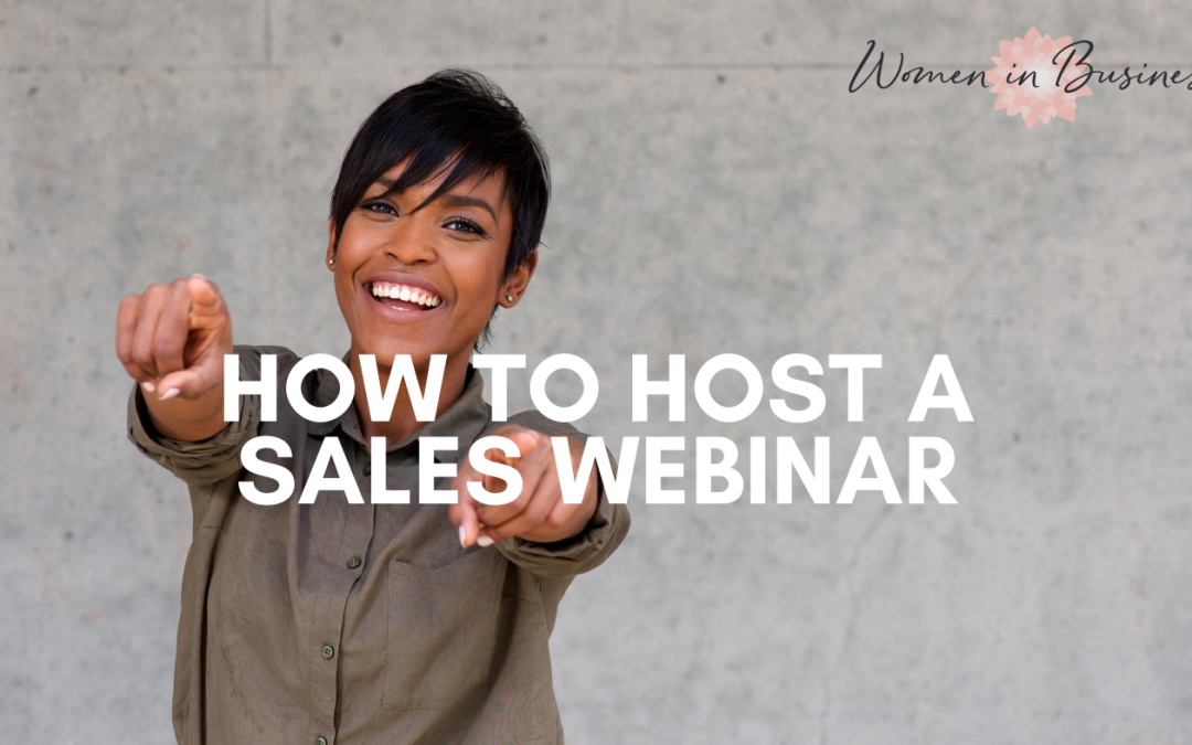 How to host a sales webinar?